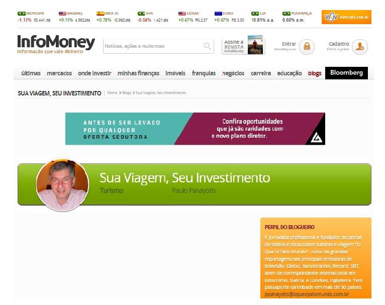 OQVPM estreia coluna no Infomoney