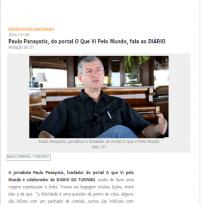 Paulo Panayotis, do portal O Que Vi Pelo Mundo, fala ao DIÁRIO