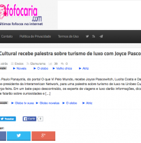 Unibes Cultural recebe palestra sobre turismo de luxo com Joyce Pascowitch