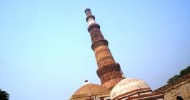 Qutub Minar - Minarete de tijolos mais alto do mun