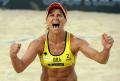 Copacabana sedia evento-teste de vôlei de praia