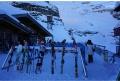 Montanha de Titlis na Suíça se prepara para o inverno